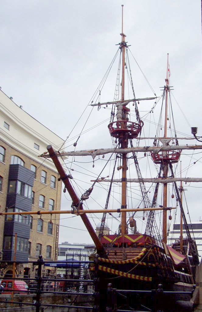 A replica of Francis Drake's Golden Hind