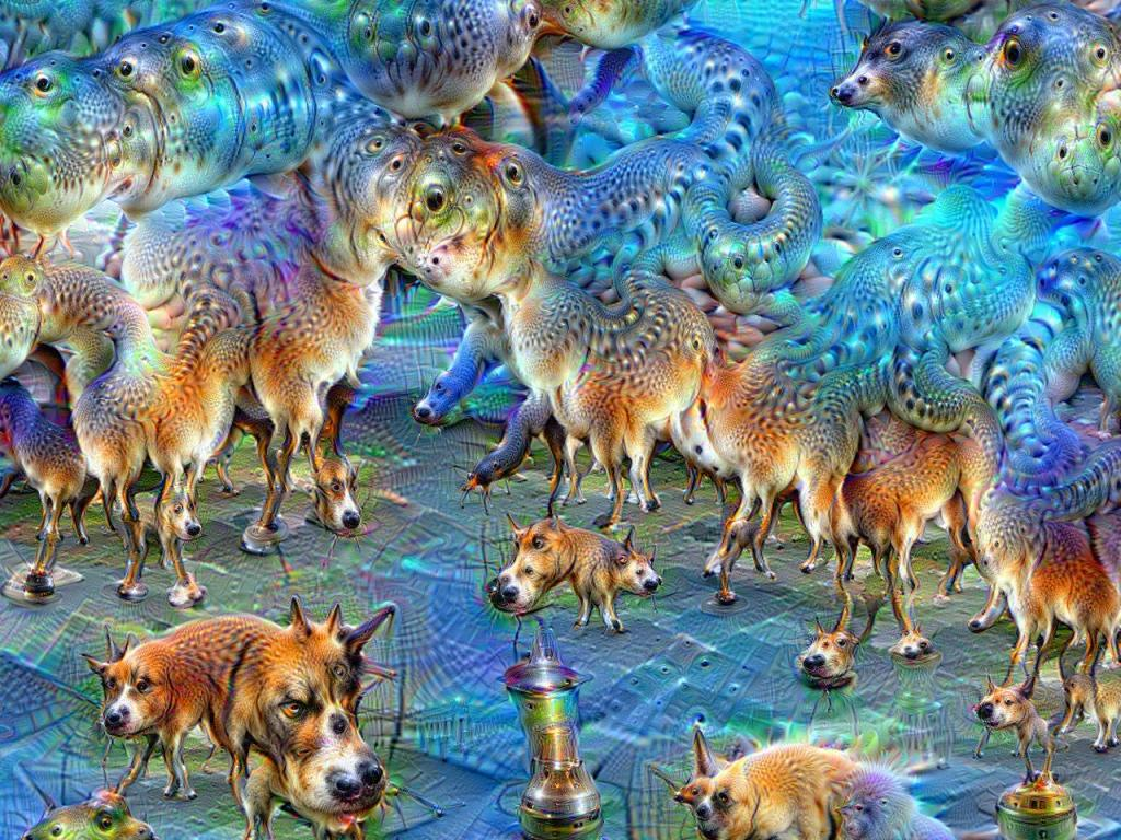Google DeepDream image by Martin Thoma via Wikipedia 1