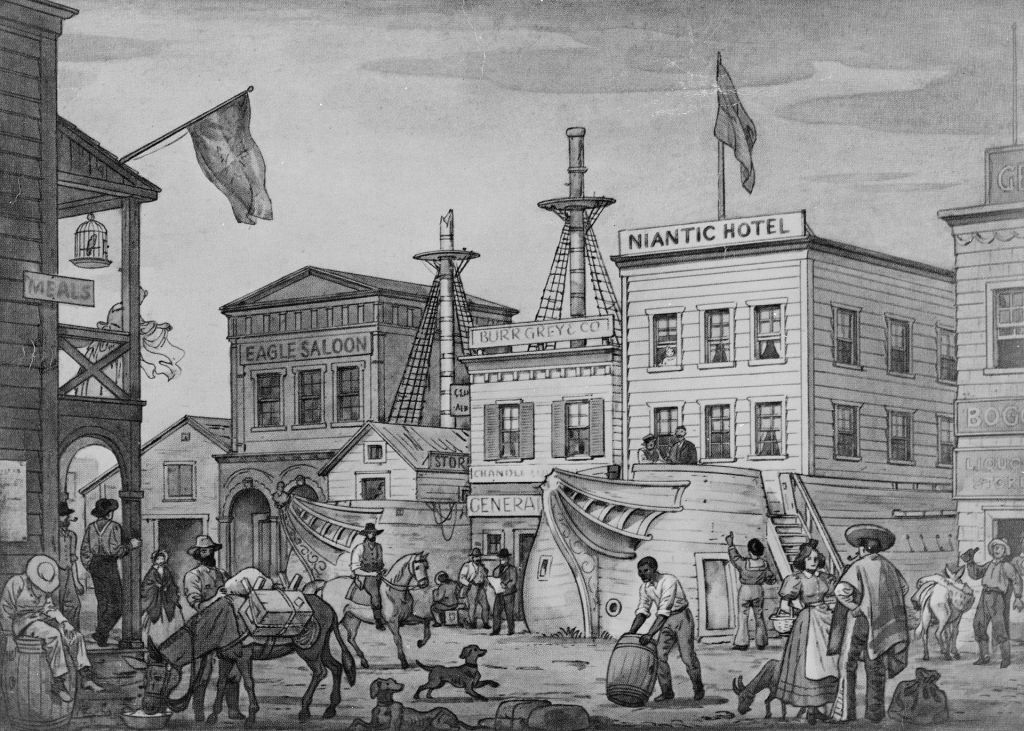 The Niantic Hotel in 1850 _ Wikipedia